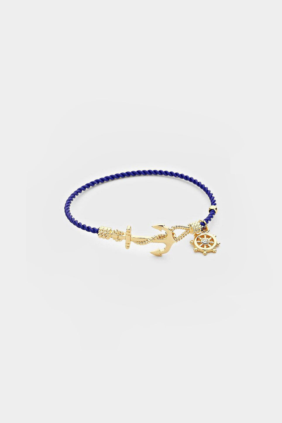Nautical Anchor Charm Hook Bracelet