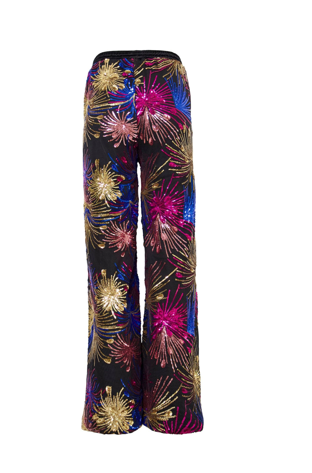 Ilona Rich Wide Leg Firework Print Trousers