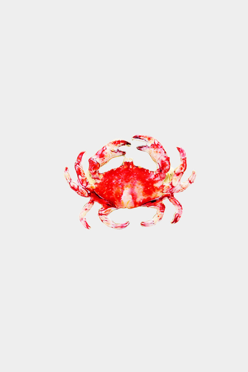 Watercolor Crab Stretch Ring