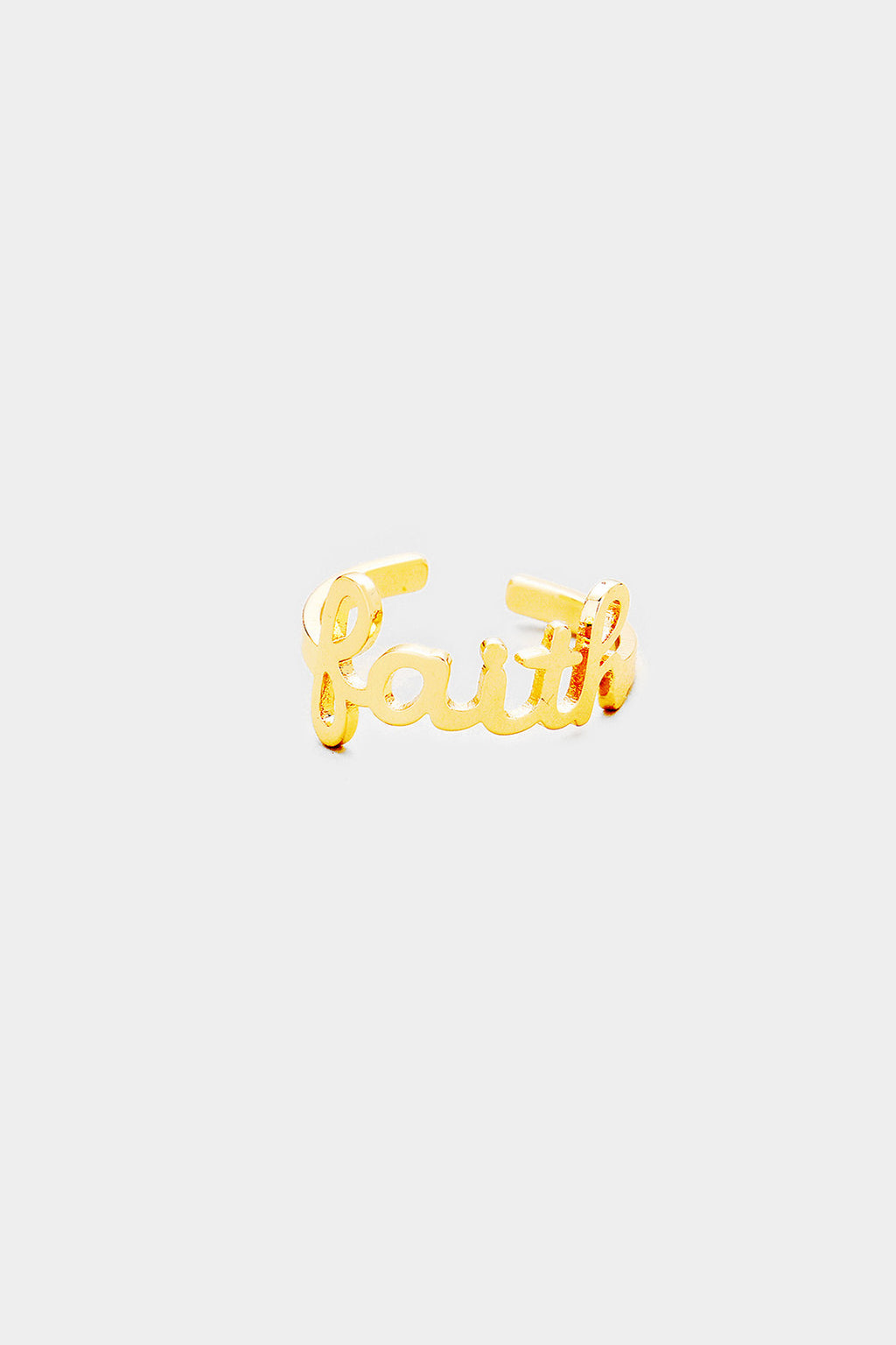 """Faith"" Metal Cuff Ring"