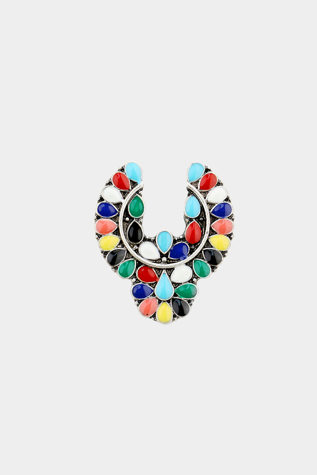 Tribal Enamel Stretch Ring