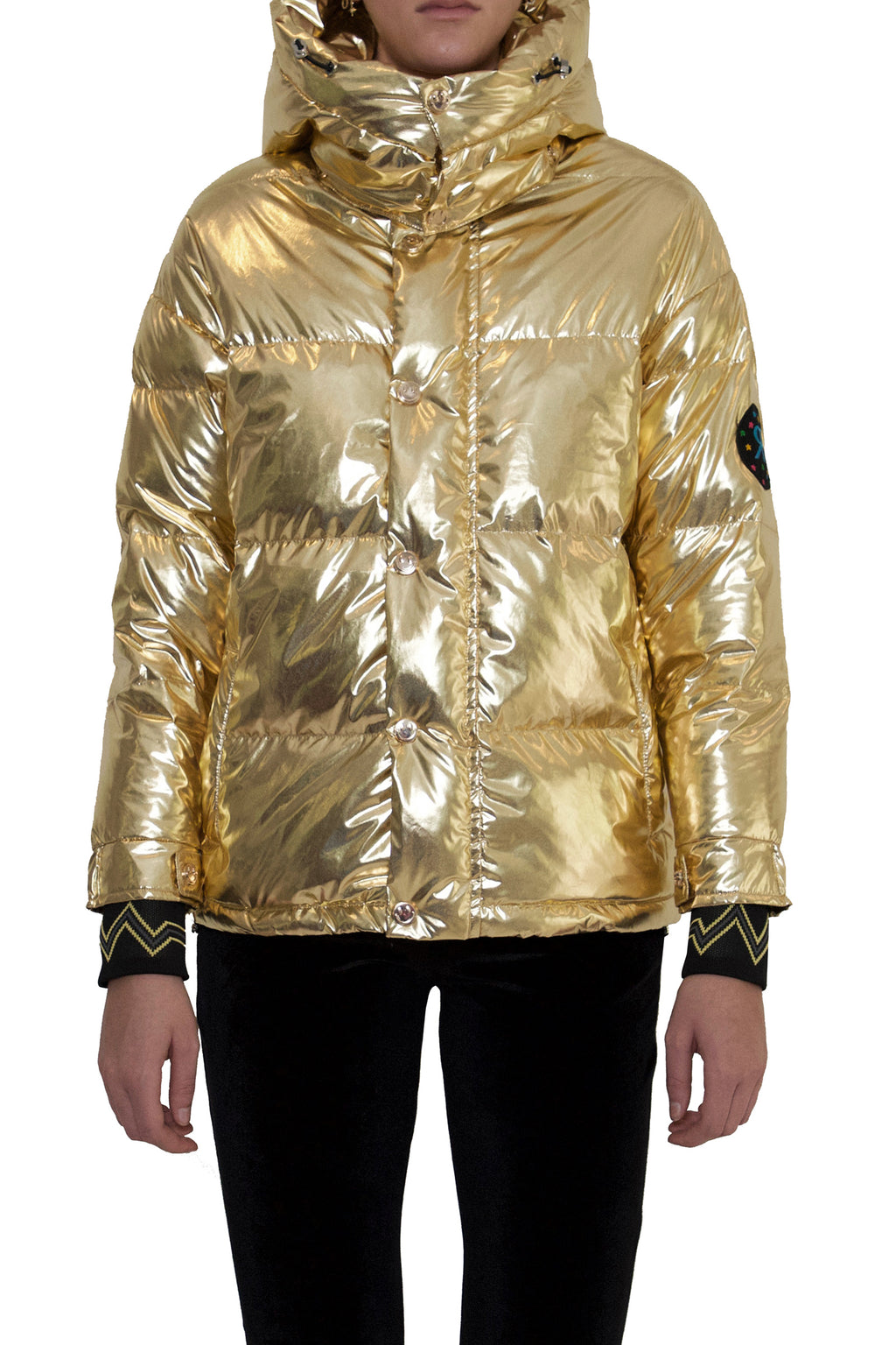 Metallic Gold Puffer Jacket