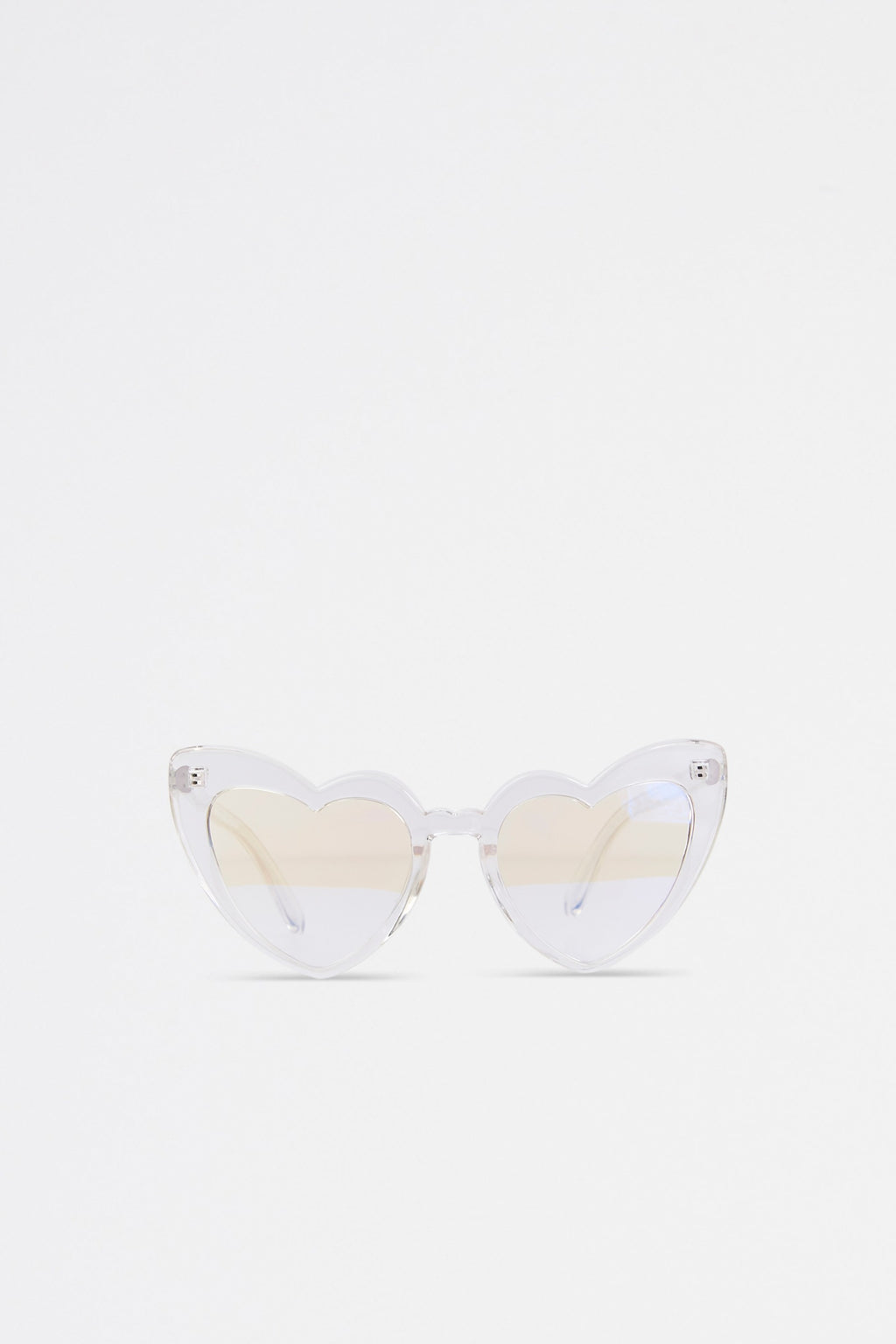 Heart Shaped Clear Lens Glasses