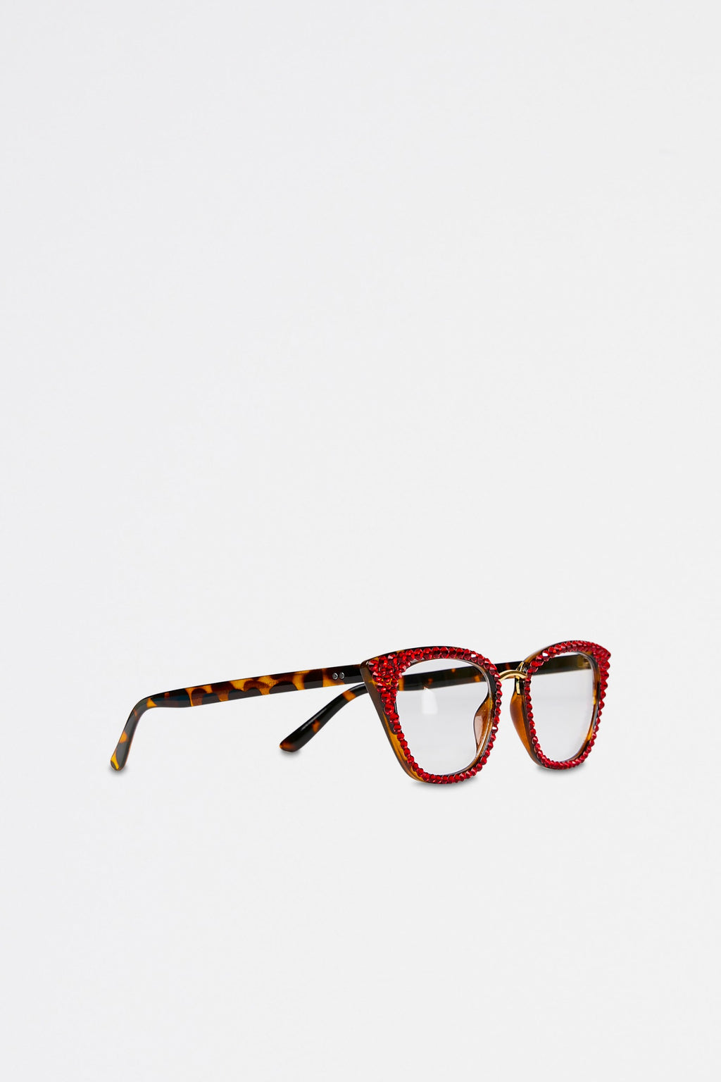 Clear Lens Embellished Retro Glasses
