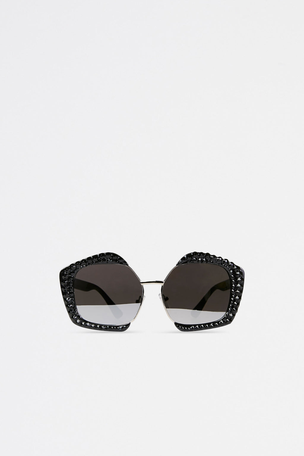 Geometric Rhinestone Embellished Sunglasses