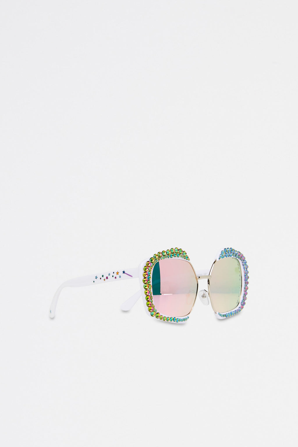 Geometric Multicoloured Rhinestone Embellished Sunglasses