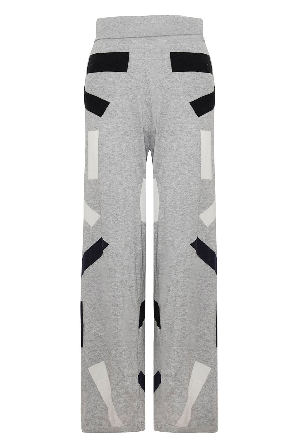 Unisex Cashmere Block Trousers Grey