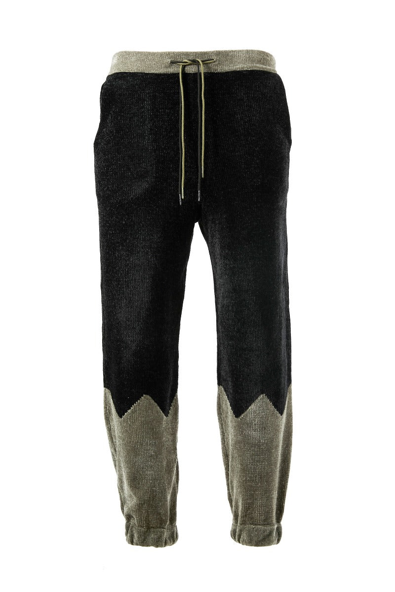 Adrian Unisex Grey and Black Chenille Track Bottoms