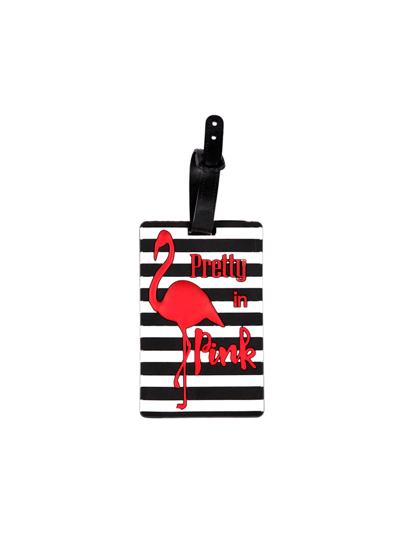 'Pretty in Pink' Flamingo Luggage Tag