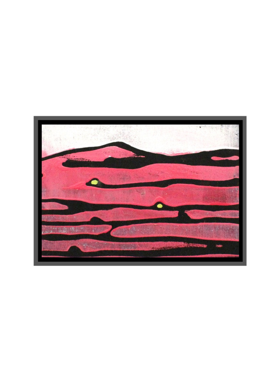 Handheld Landscape Painting Red