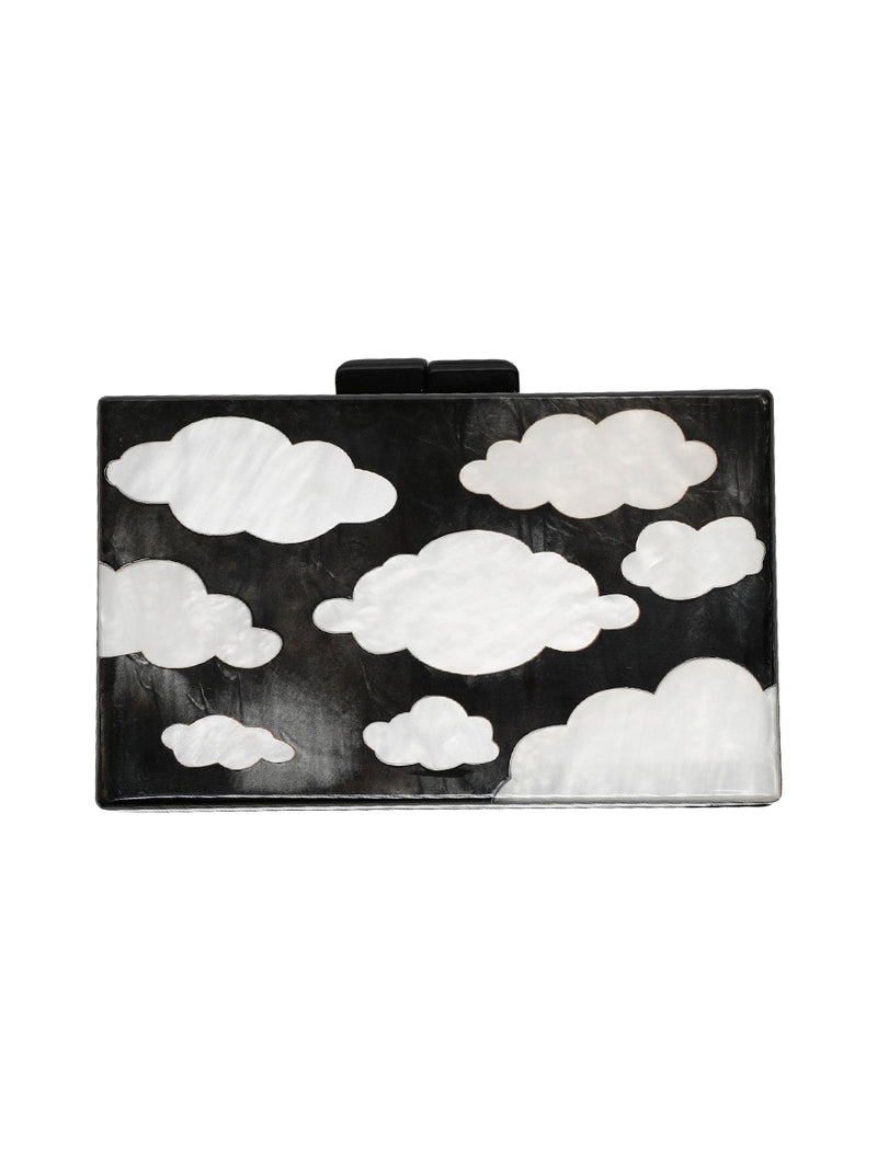 Cloud Print Clutch Bag