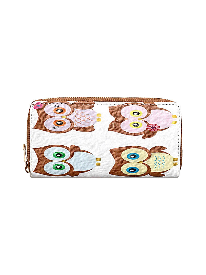 Owl Print Clutch Bag