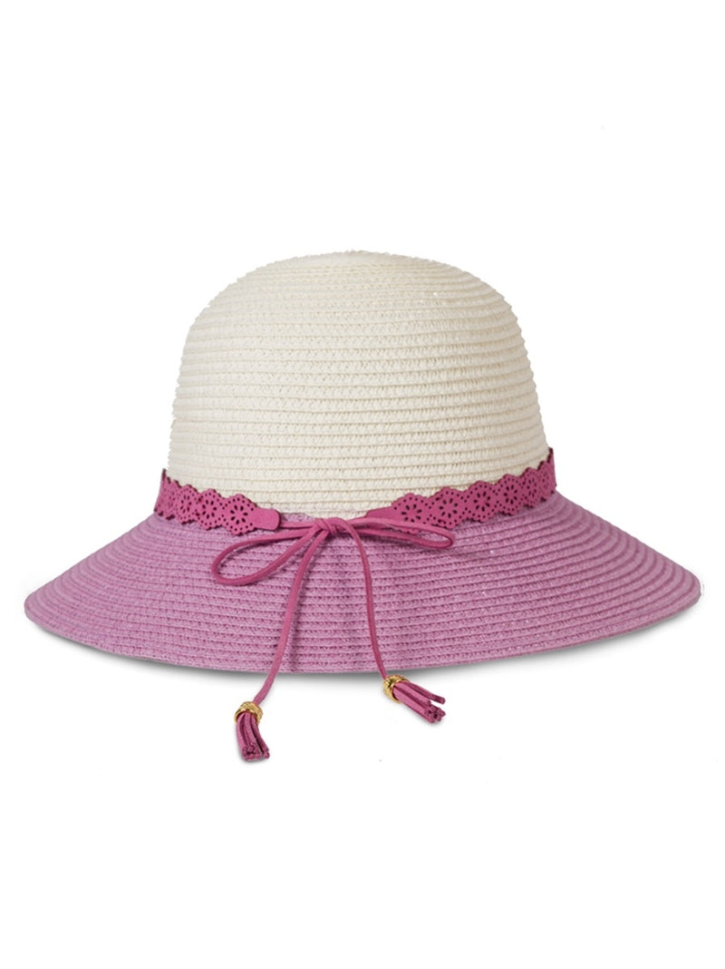 Pink and Cream Sun Hat