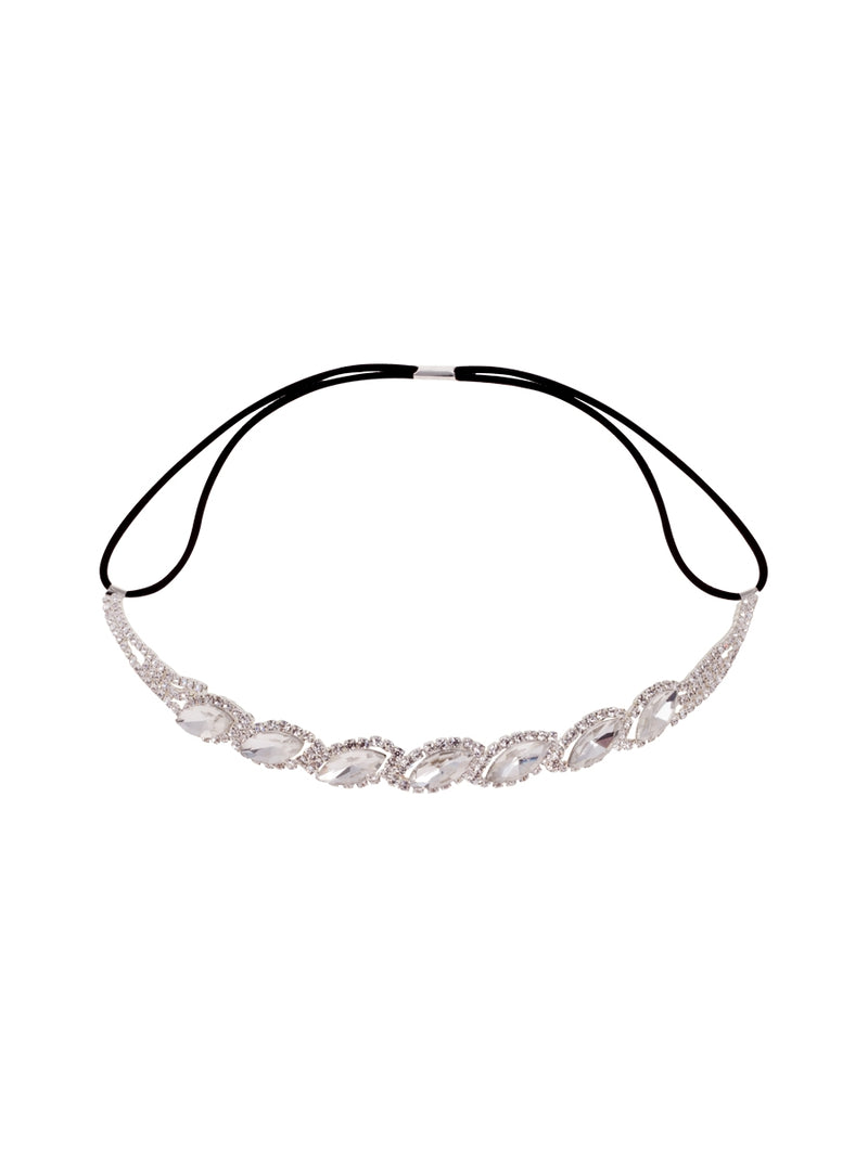 Silver Bejewelled Party Headband