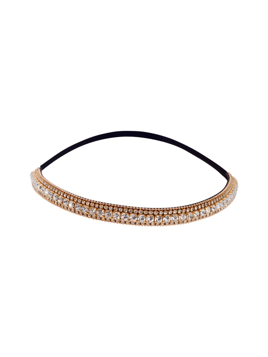 Golden Crystal Bejewelled Party Headband