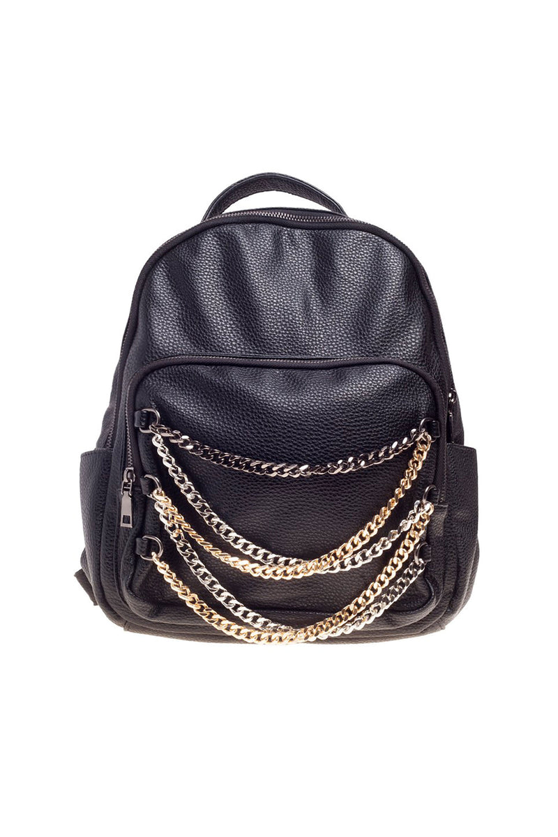 Metallic Backpack-Black
