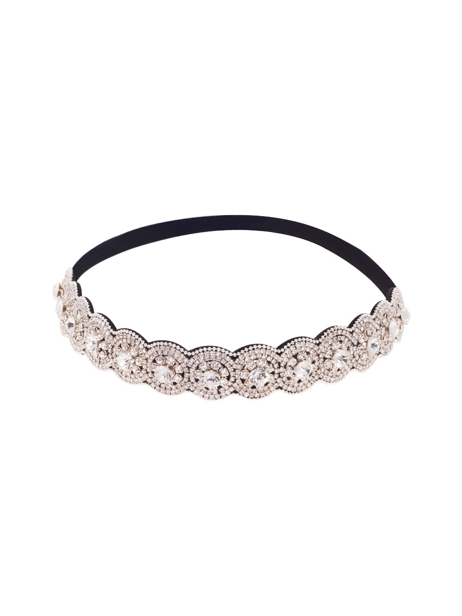 Silver Crystal Bejewelled Party Headband