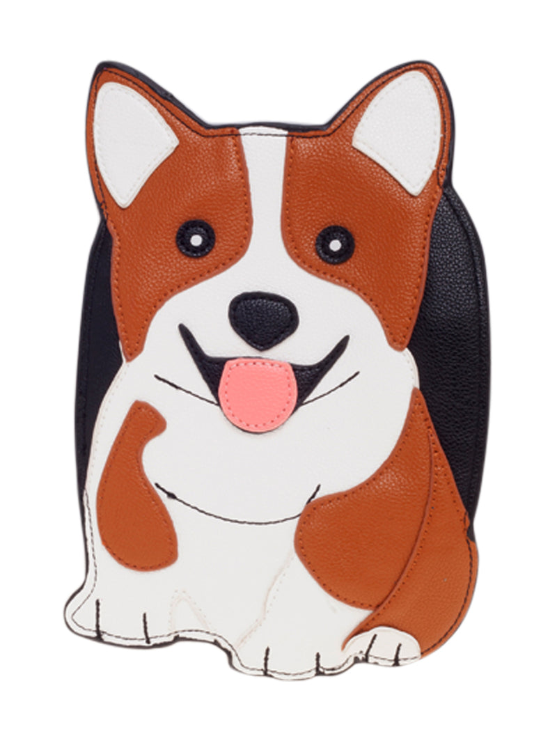 Corgi Shaped Novelty Cross Body Bag