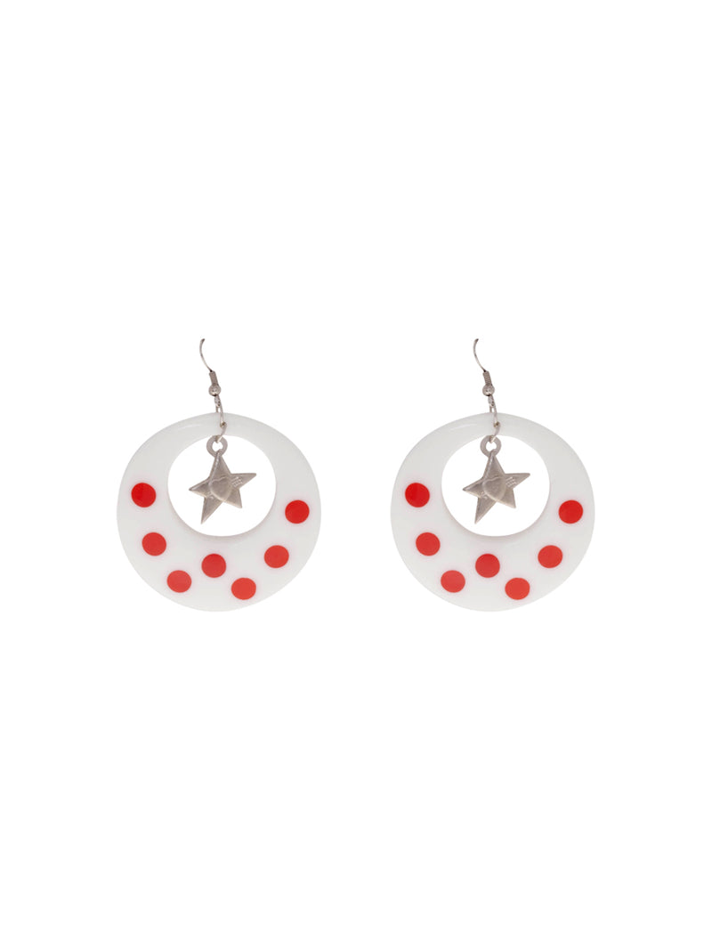 Cabuyaro White Earrings