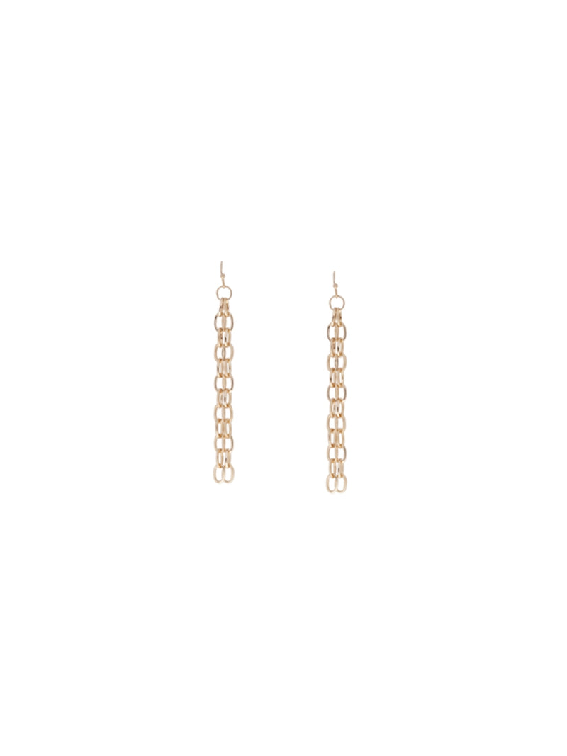 Long Chain Metallic Earrings
