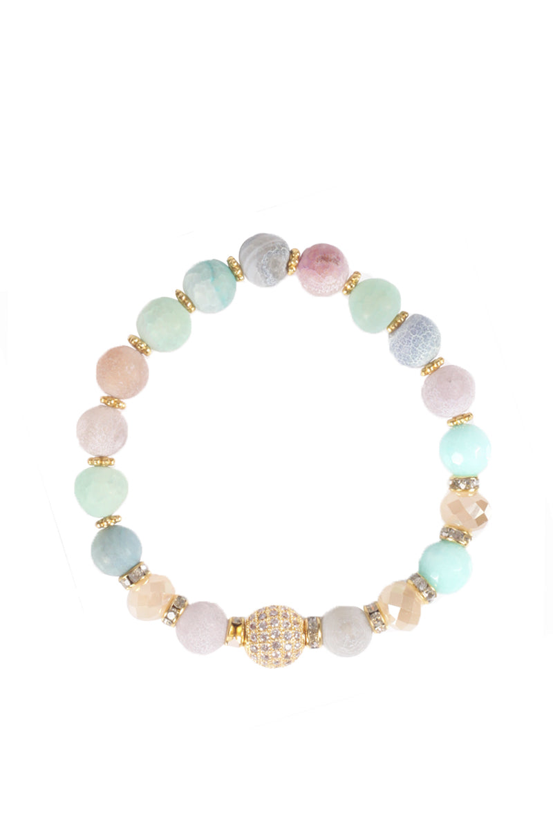 Pastel Beaded Stretch Bracelet