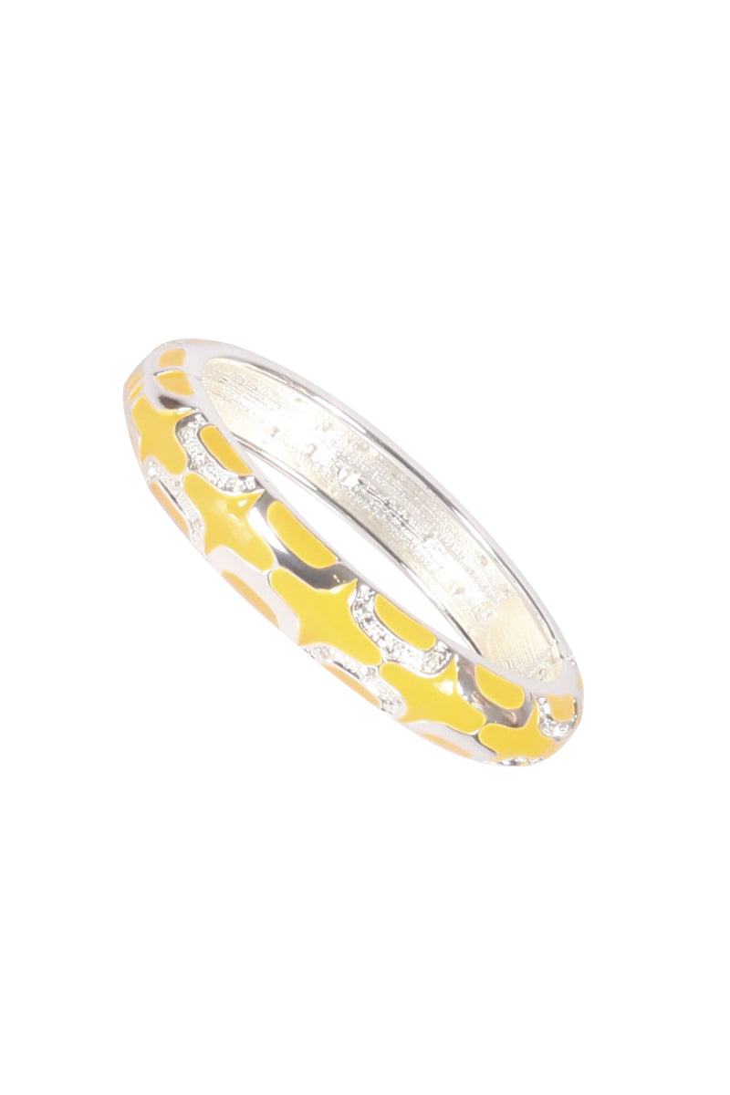 Silver and Yellow Bangle