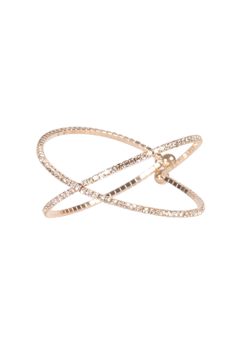 Criss Cross Diamante Bracelet