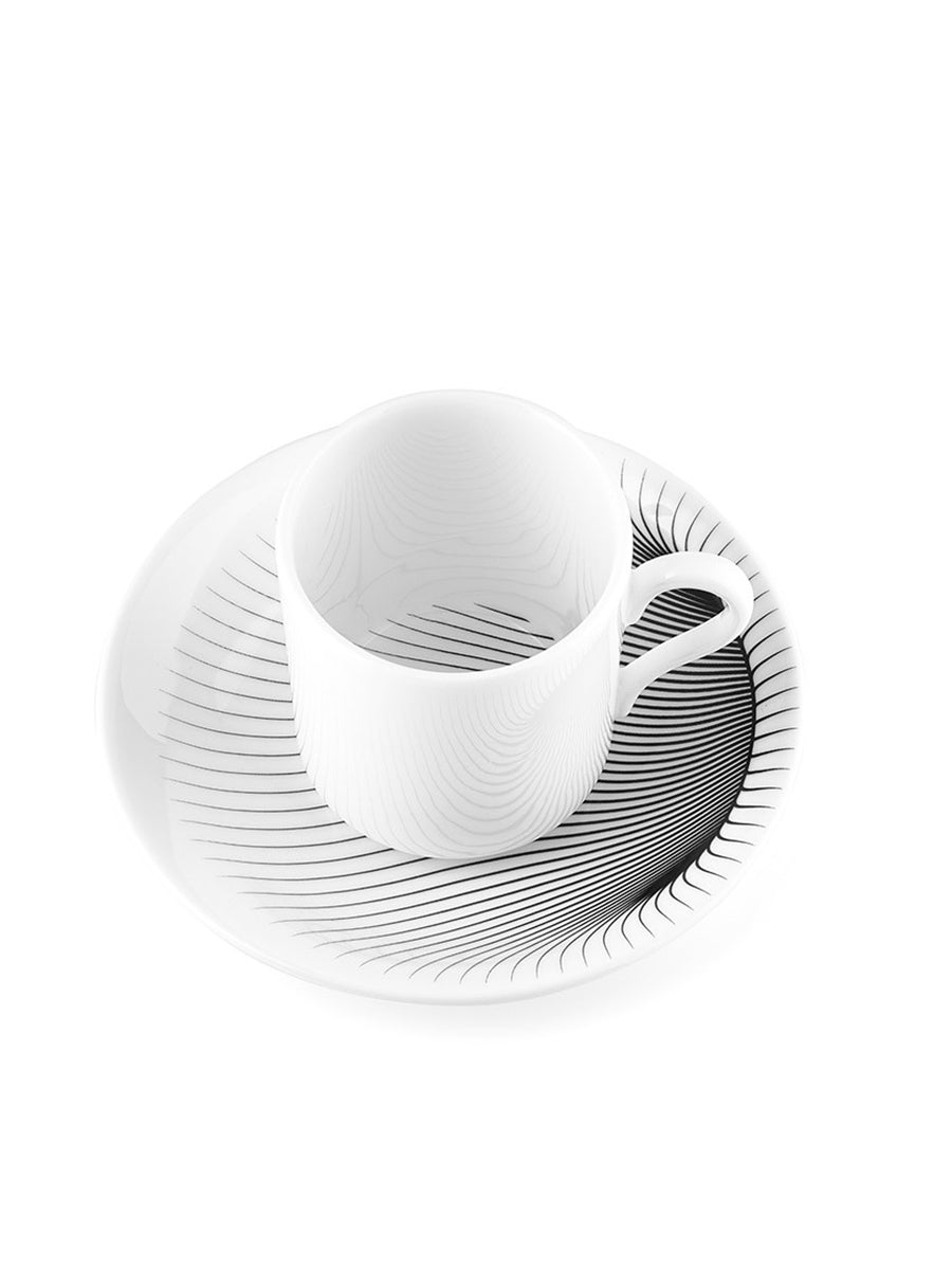Illusion Coffee Cup and  Saucer (Set of 2)