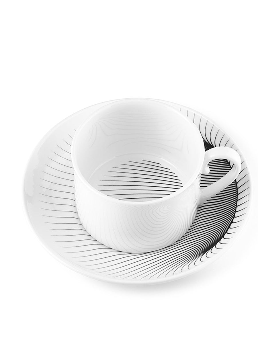 Illusion Tea Cup and  Saucer (Set of 2)