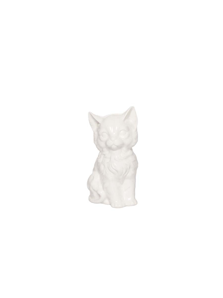 White Cat Pepper Shaker
