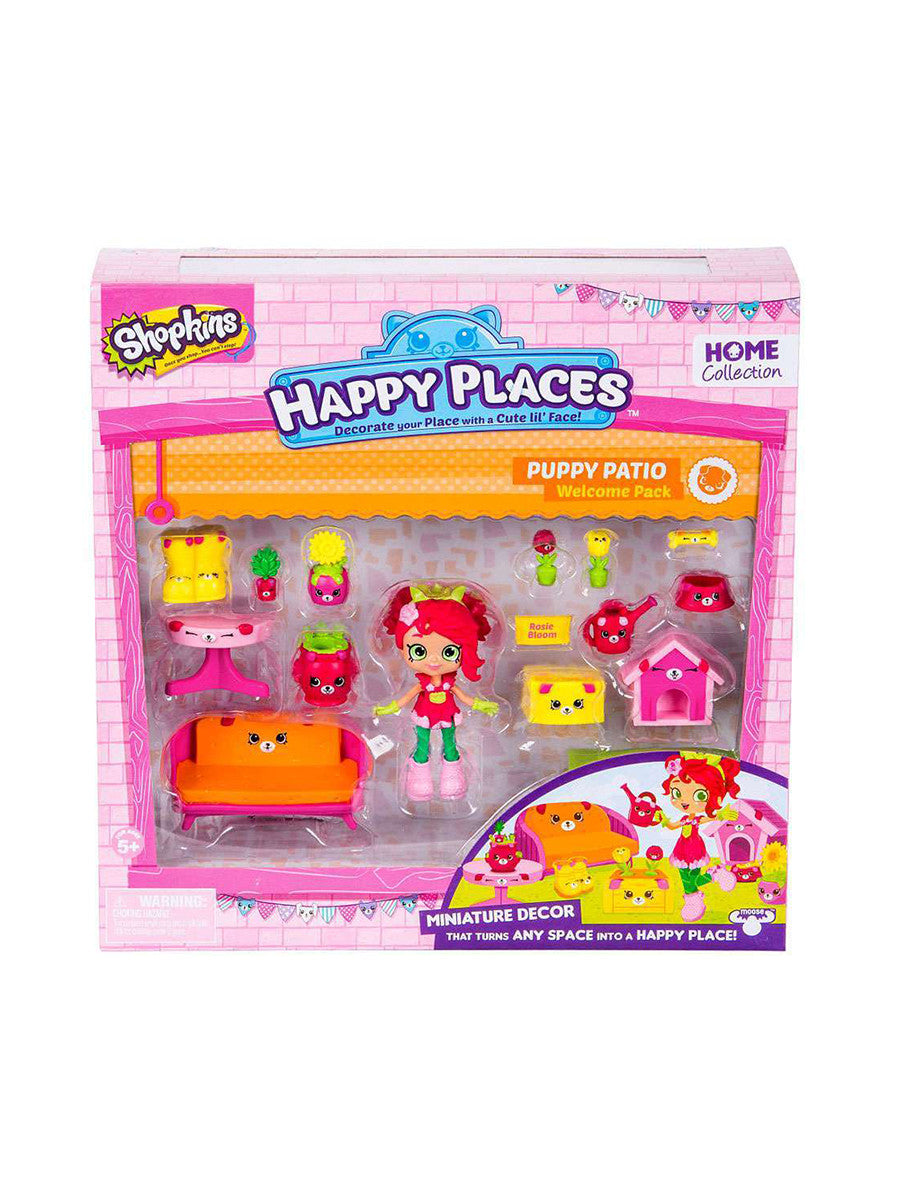 Shopkins Happy Places Series 2 Puppy Patio Welcome Pack Rosie Bloom