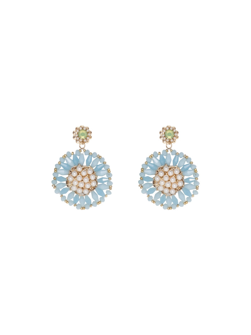 Multicolour Floral Shape Statement Earrings