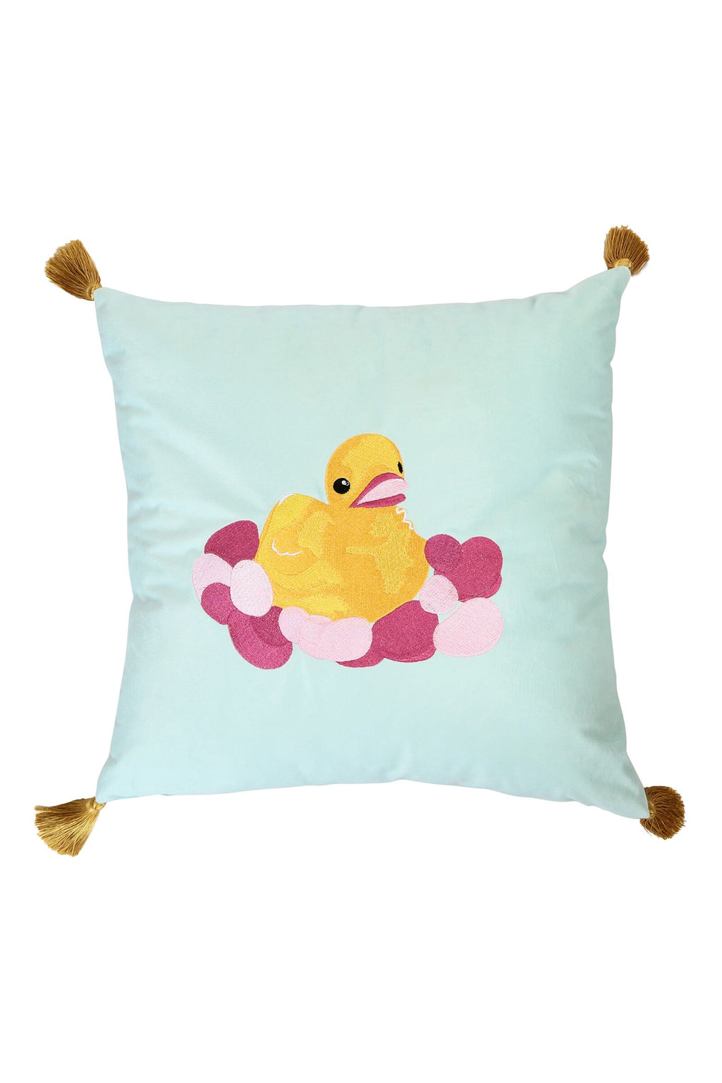 Duck Cushion with Tassels