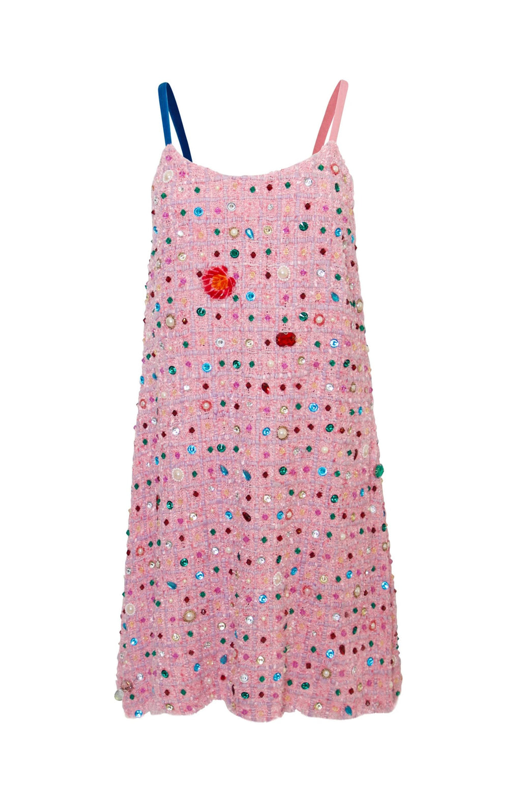 Pink Bejewelled Tank Dress