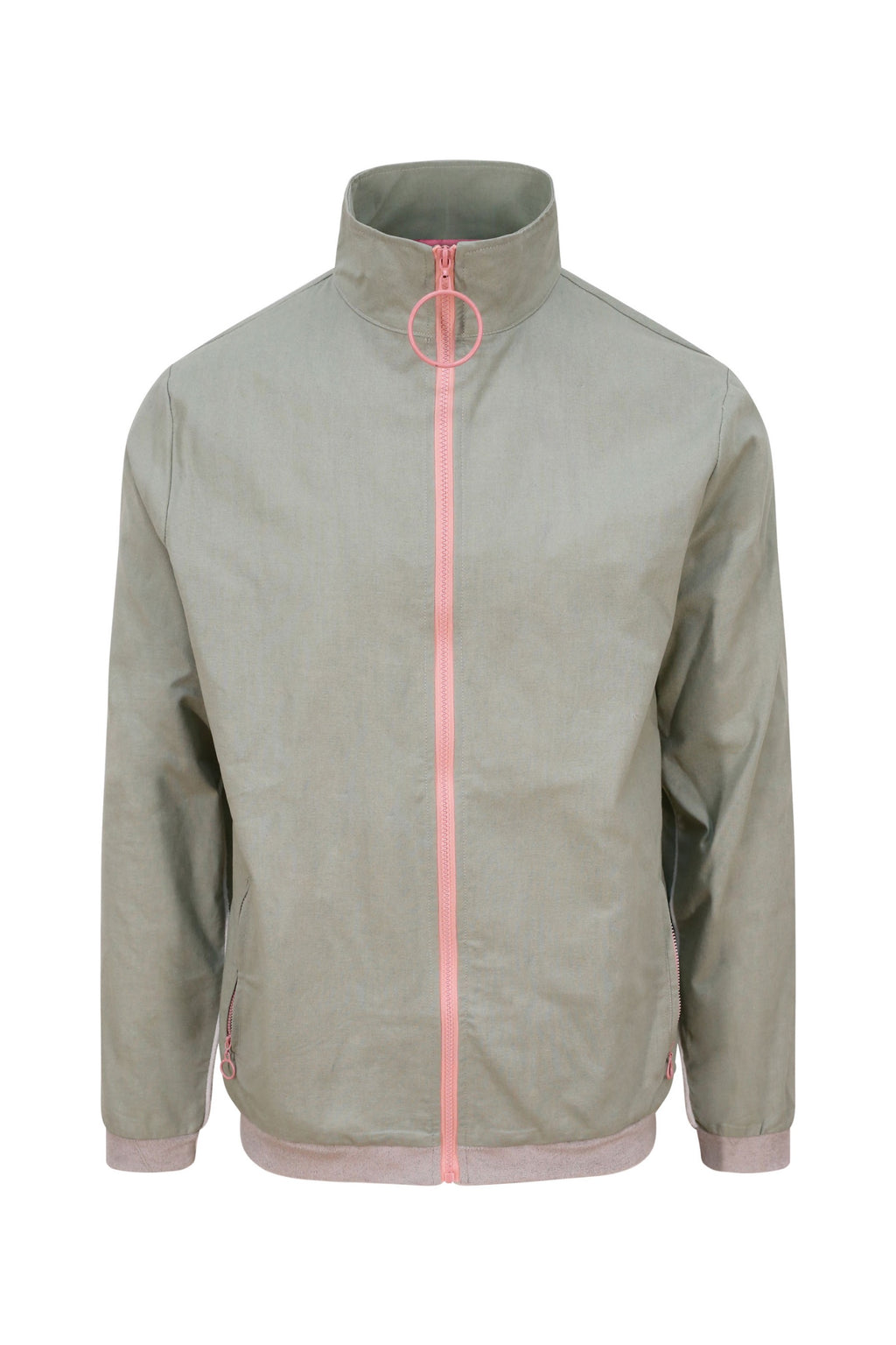 Unisex Grey Loop Zip Front Jacket