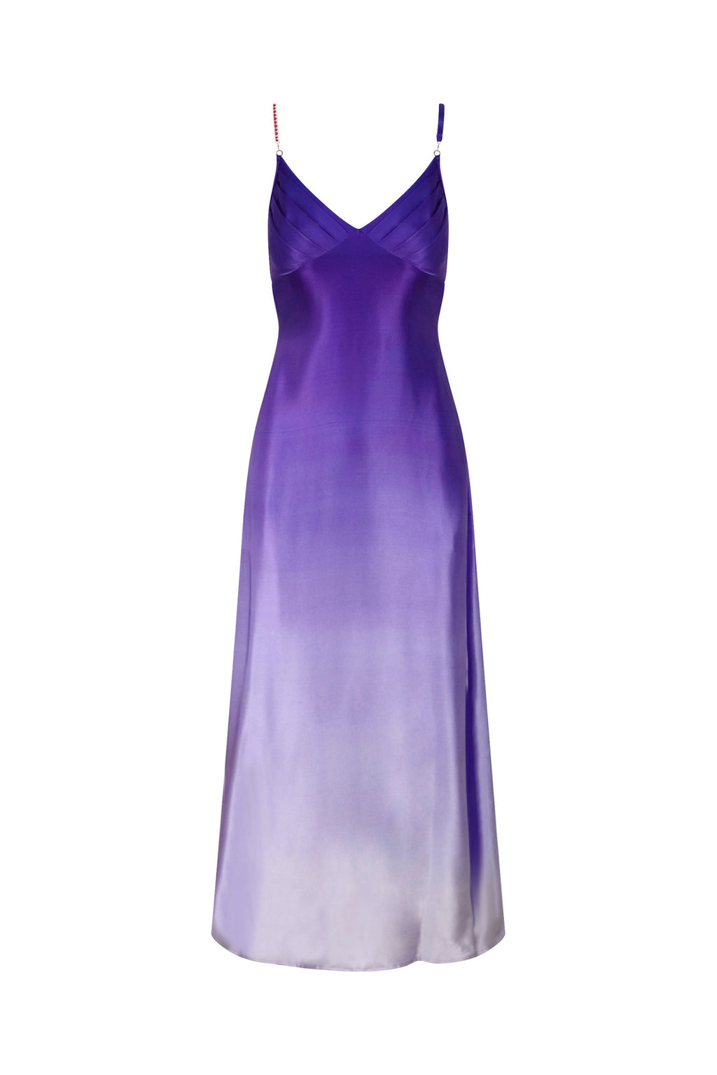 Edina Purple Bead Silk Maxi Dress
