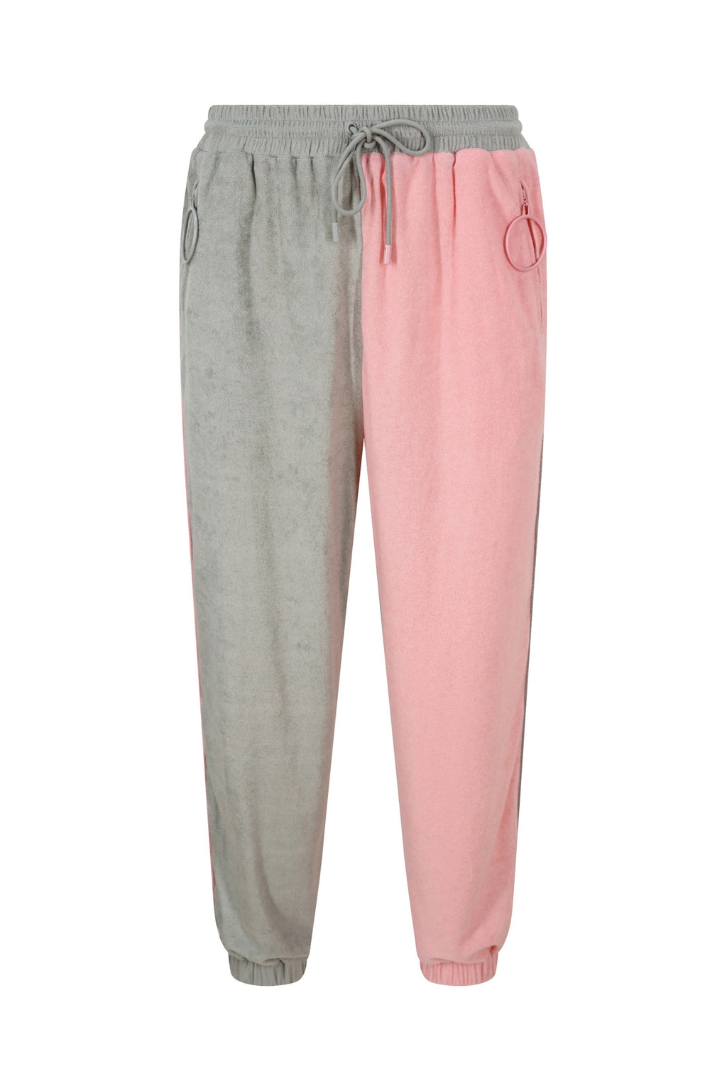 Unisex Grey and Pink Track Trousers