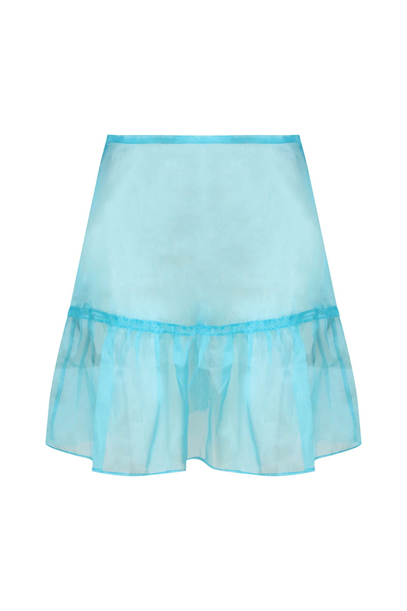Organza Ruffle Mini Skirt and Shorts