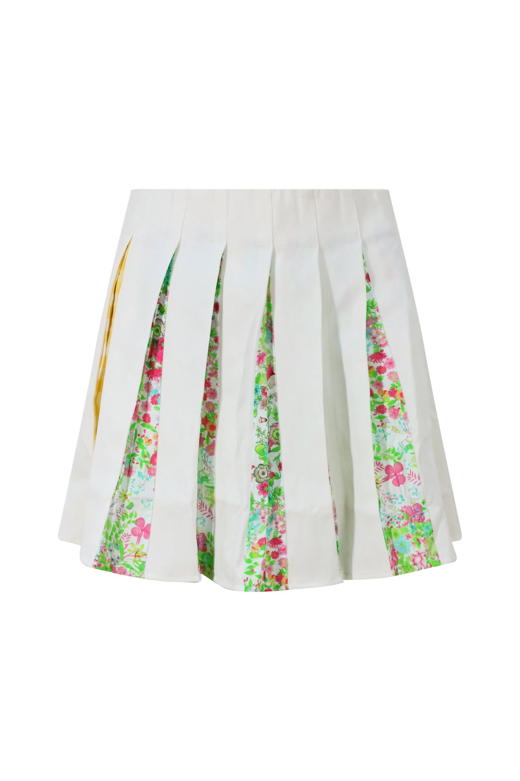 White Floral Tennis Skirt
