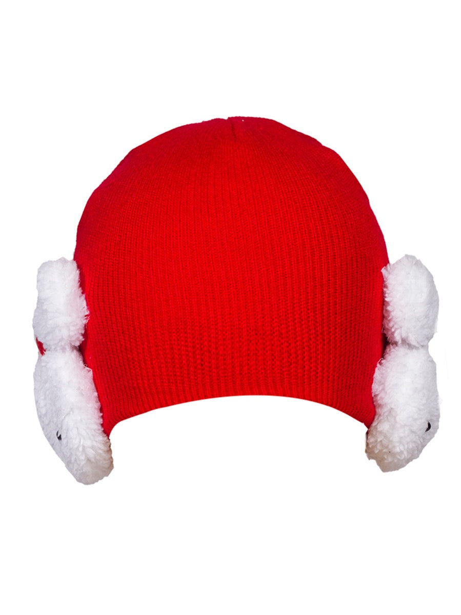 Bunny Beanie Hat red