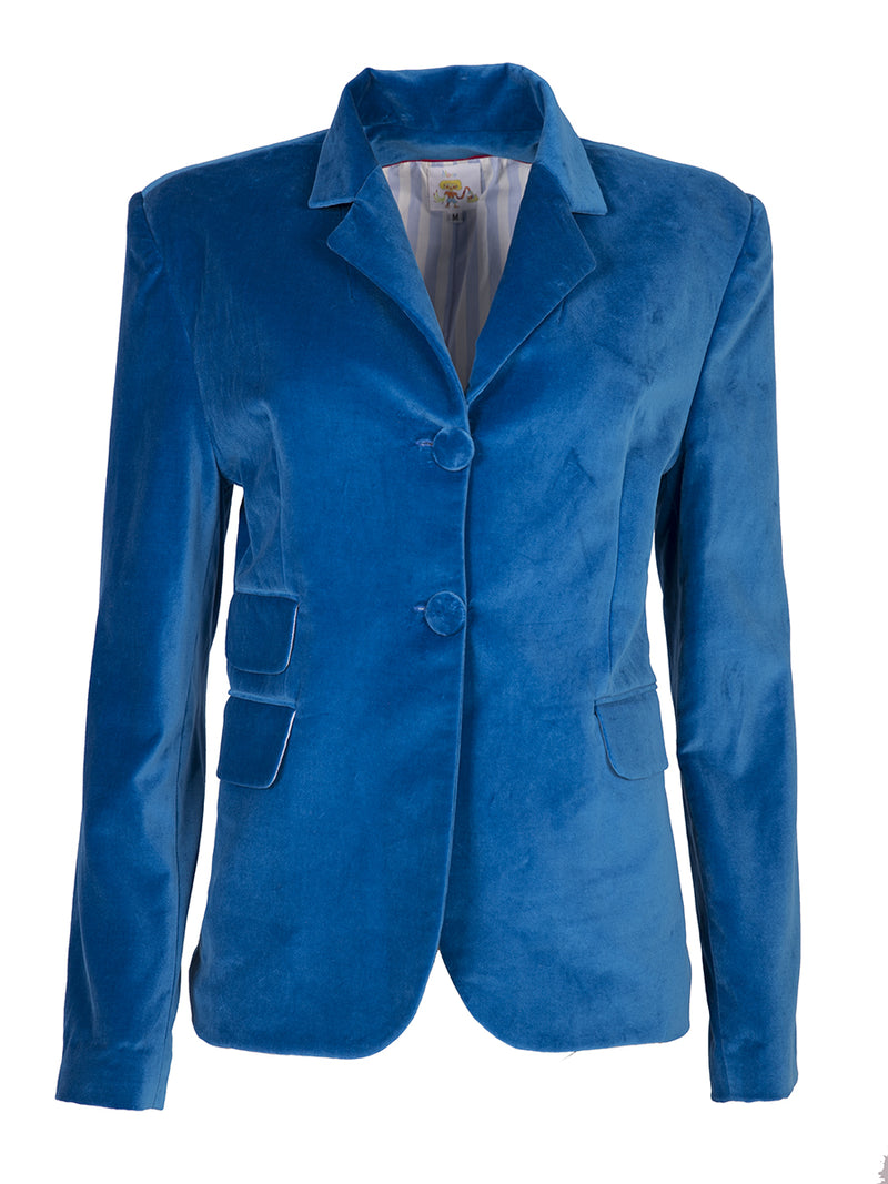 Ilona Rich Blue Velvet Jacket