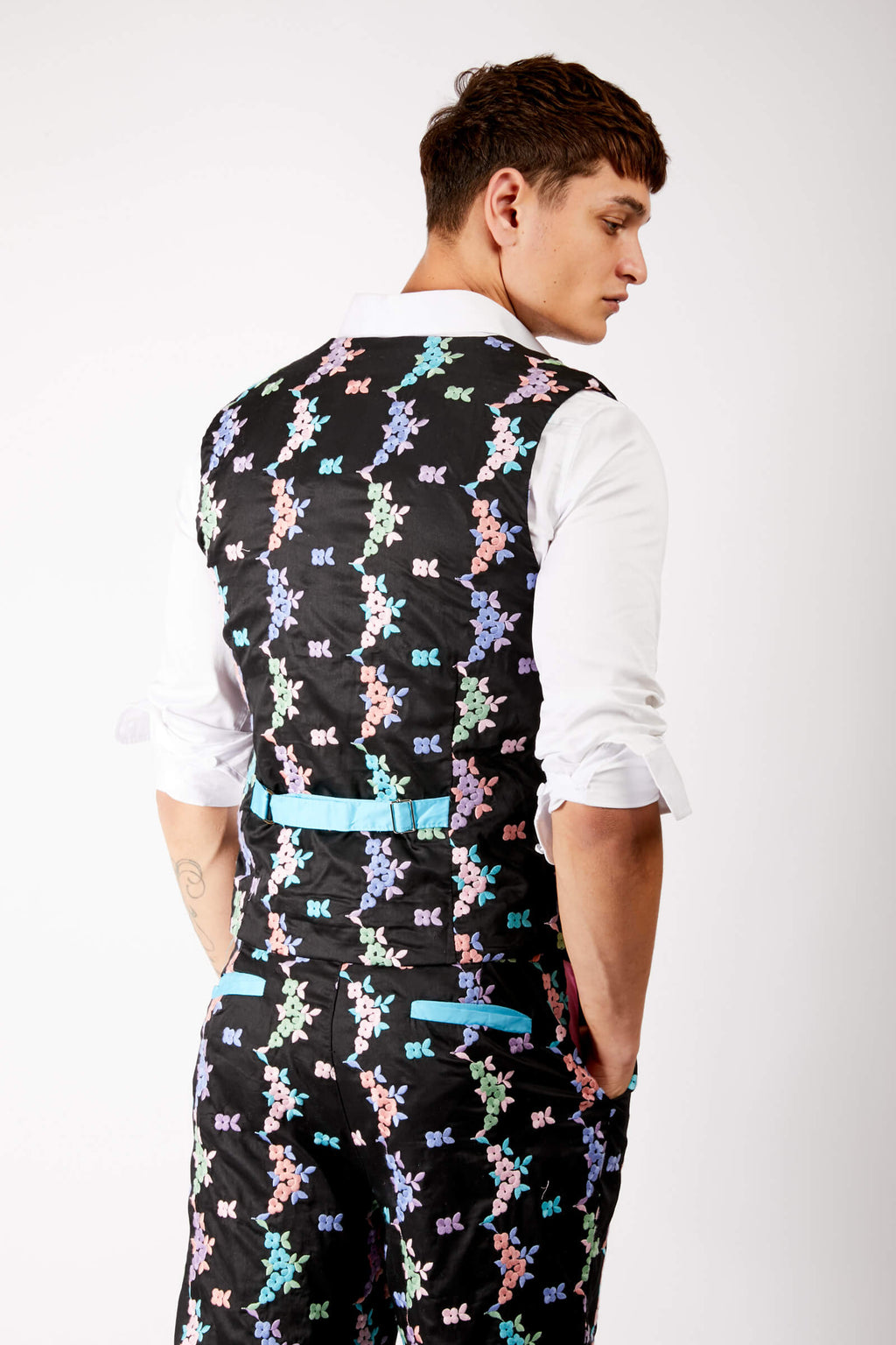 Adrian Unisex Floral Embroidered Suit Waistcoat