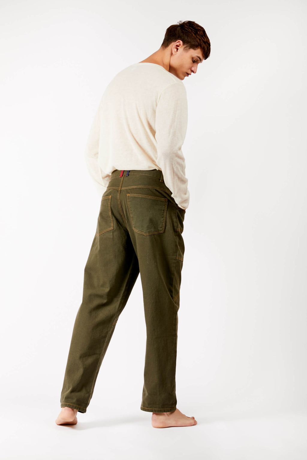 Adrian Schachter Green Denim Trousers