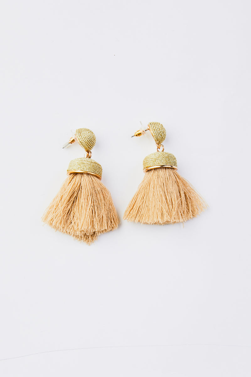 Thread Tassel  Drop Earrings