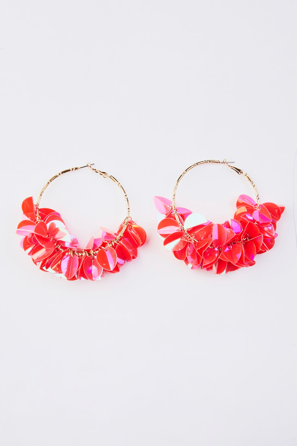 Big Flower Hoop Earrings