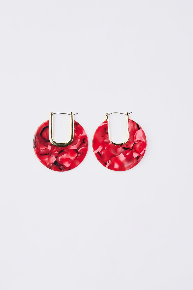 Cut Out Celluloid Acetate Earrings
