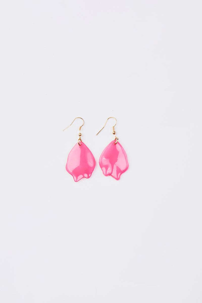 Small Pink Resin Earrings