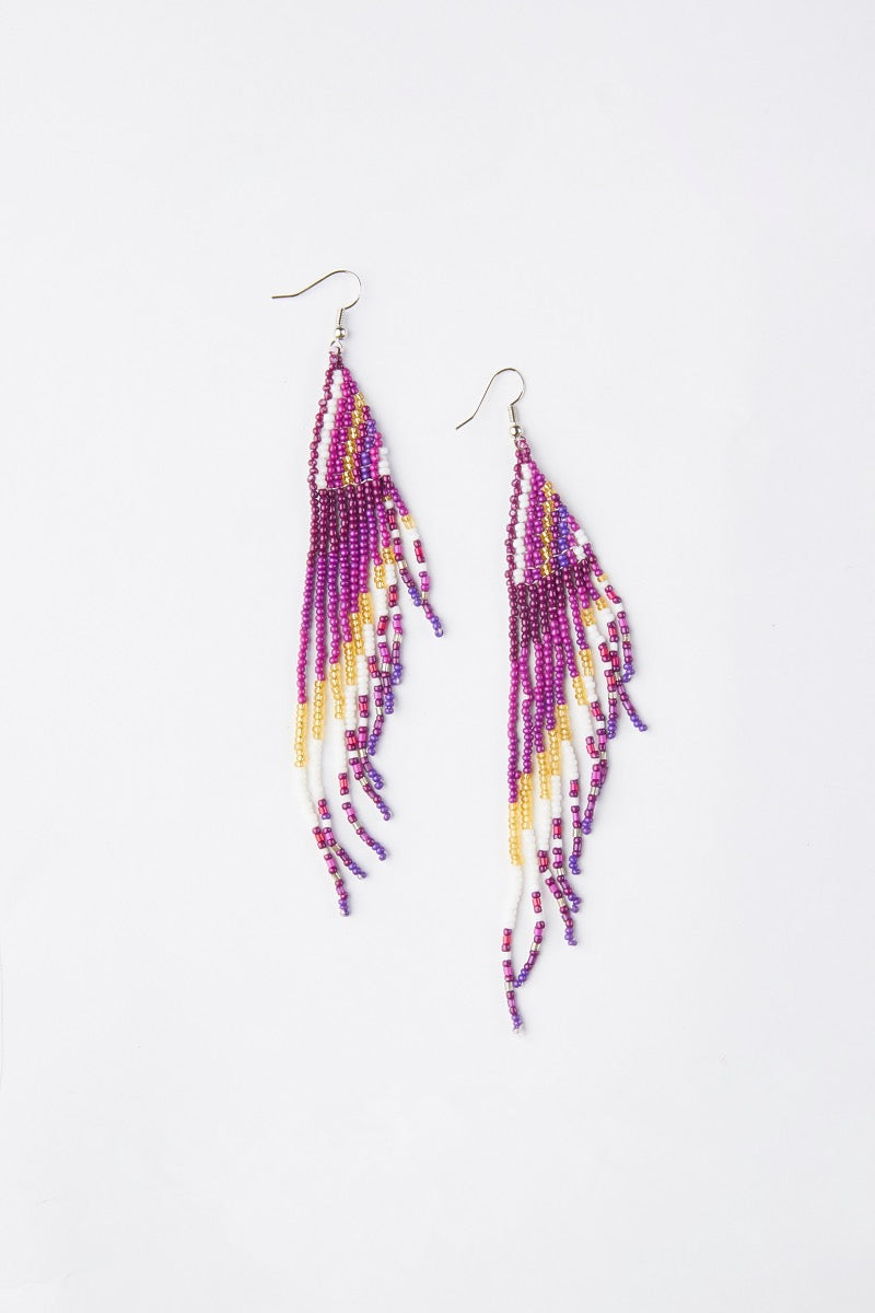 Beaded Long Earrings