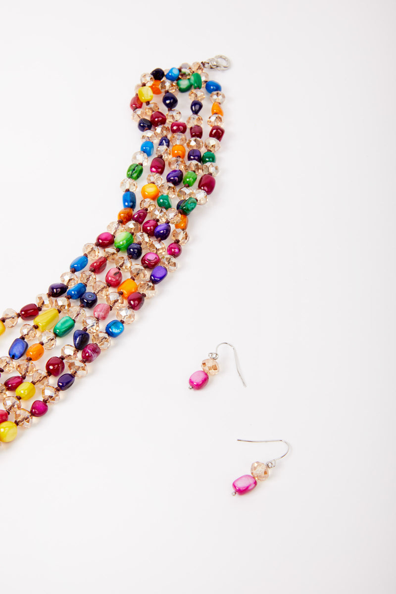 Colorful Beaded Necklace Set