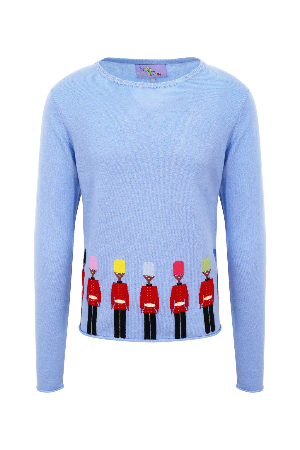 Blue Cashmere Changing of the Guard Jumper